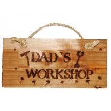 Wooden Plaque - Dad's Workshop