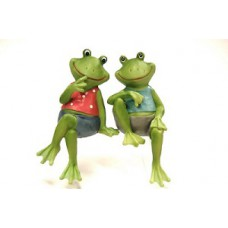 Couple Frog Edge Sitters (2/Set)