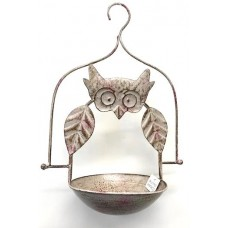 Owl Bird Bath, Hanging