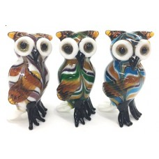 Glass Owls, 3 Asstd.