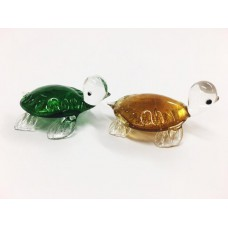 Glass Turtles, 2 Asstd.