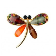 Brooch, Multi colour Dragonfly